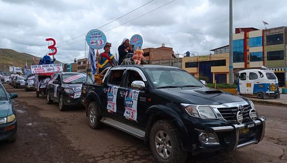 """La caravana de vehículos inició en el """"Parque del Triciclista"""". (Foto: Difusión)"""