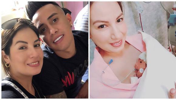 Esposa de Christian Cueva emociona con fotografía de su hija fuera de incubadora