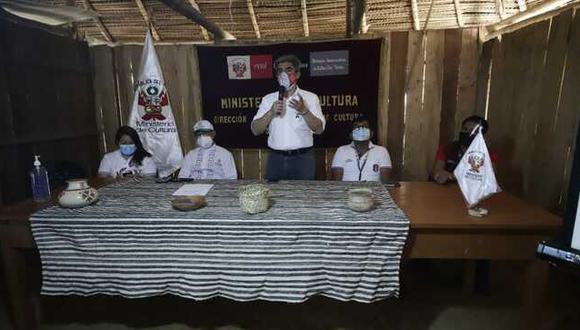 San Martín: Más de 5 mil pobladores indígenas han sido vacunados contra el COVID-19 en la región, señaló el ministro de Cultura, Alejandro Neyra Sánchez. (Foto: Mincul)