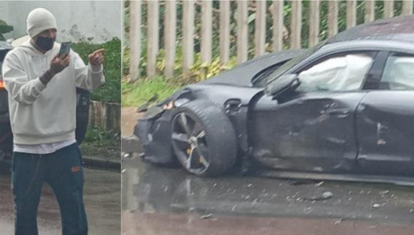 Paolo Guerrero sufrió accidente de tránsito en Brasil.