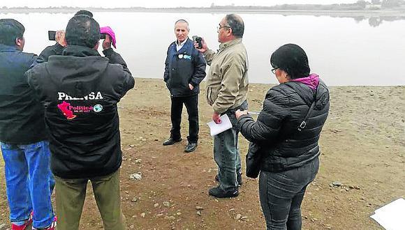 Supervisan infraestructura del sistema de agua potable y alcantarillado de Pisco