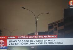 Sismo en Lima: Se registra corte de energía eléctrica en el distrito de Breña