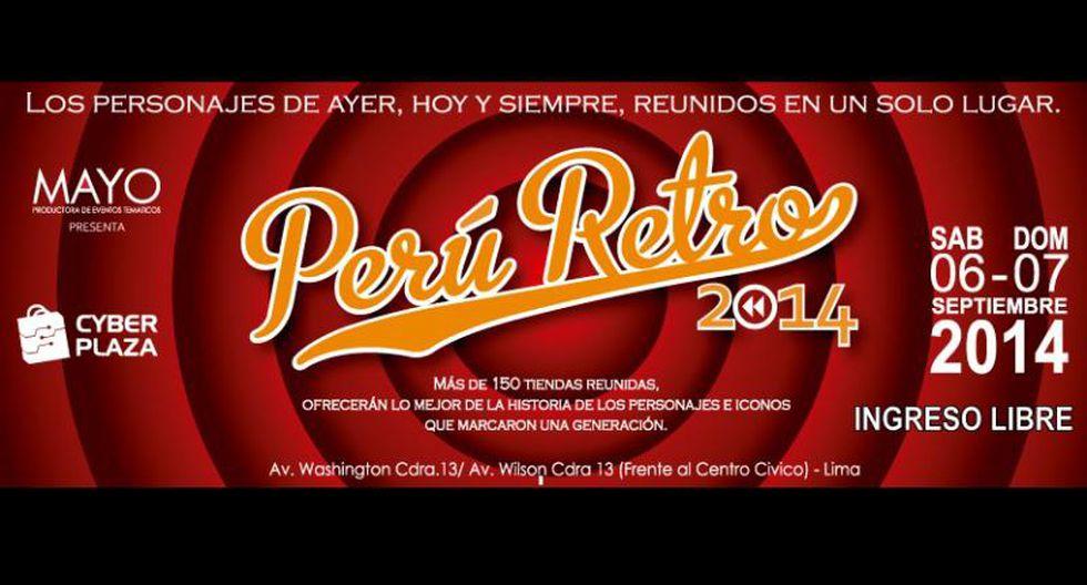 Realizan feria Perú Retro 2014