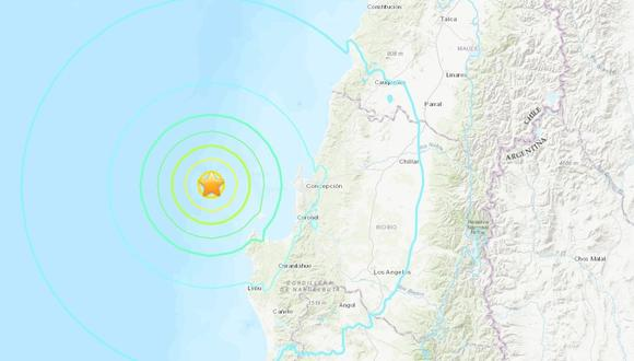 Autoridades informaron que las características del sismo no reúnen las condiciones necesarias para generar un tsunami en las costas chilenas. (Foto: USGC)