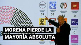 """México: """"Morena"""", partido de Manuel López Obrador, perdió mayoría absoluta en cámara de diputados"""