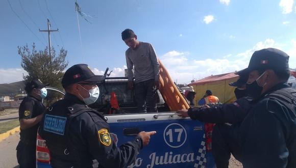 Individuo fue trasladado hasta la dependencia policial para las investigaciones respectivas. (Foto: Diario Correo)
