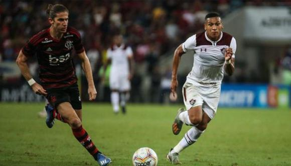 Fernando Pacheco entró en el segundo tiempo y puso en aprietos a los rivales del 'Fla'. (Foto: Fluminense)