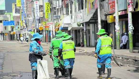 Municipalidades de Arequipa trabajan con menos del 50% de obreros municipales