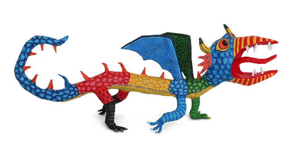 Pedro Linares a sus 12 años, se había convertido en un hábil artesano de artículos de papel maché como piñatas y las tradicionales figuras esqueléticas llamadas calaveras que se presentan en la celebración anual del Día de Muertos. (Foto: captura Google)