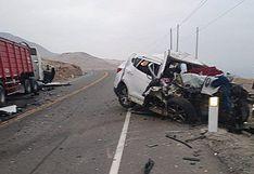 Choque deja dos fallecidos y dos heridos en la Panamericana Sur de Arequipa