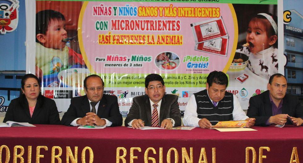 Anemia aumentó tres puntos en región Apurímac