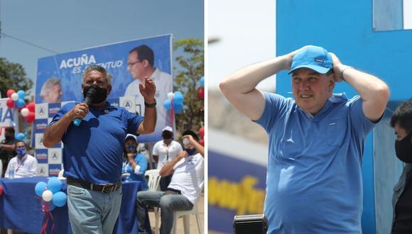 Los presentadores señalaron que Acuña, a diferencia de López Aliaga, no aceptó la invitación desde el inicio.