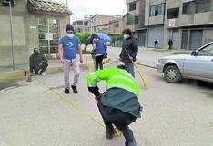 Vecinos y Policía Nacional  del distrito de  Chilca se unen  para pintar áreas restringidas de 10 cuadras