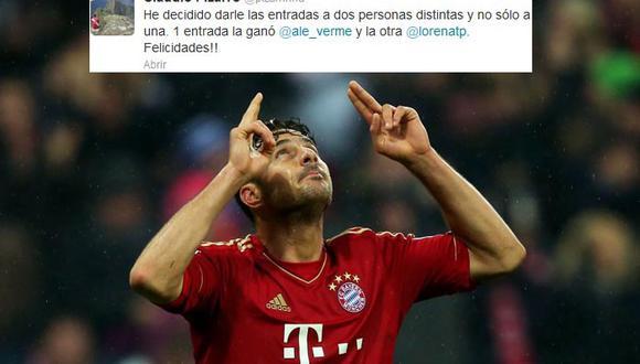 Claudio Pizarro regaló entradas para final de la Champions a dos peruanas