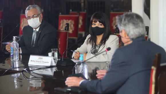 La sesión virtual del pleno fue convocada por la presidenta del Parlamento, Mirtha Vásquez, para las 3 de la tarde. (Foto: Presidencia)