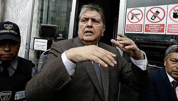 """Alan García: """"Ratifico la limpieza de mis actos y mi aversión a tener los millones que muchos creen que tengo"""""""