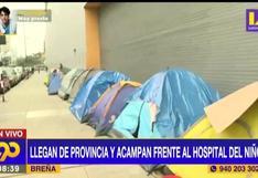 Familiares de menores internados acampan en exteriores del Hospital del Niño de Breña (VIDEO)