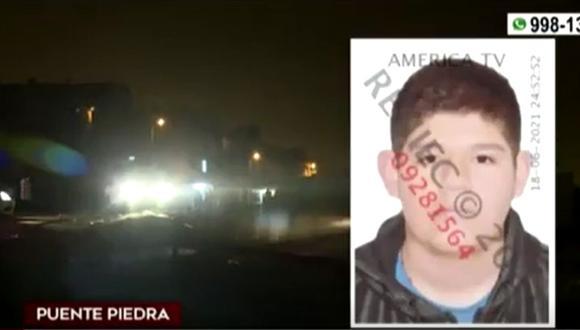 Joven de 21 años fue asesinado en un descampado de Puente Piedra. (Captura: América Noticias)