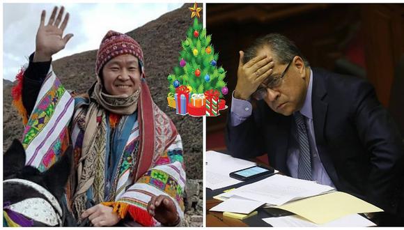 Kenji Fujimori: le preguntan por caso Saavedra, pero habla sobre este peculiar regalo navideño (VIDEO)