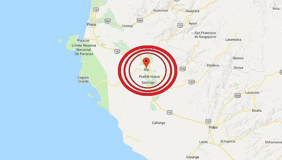 Ica: sismo de magnitud 4.6 se registró esta madrugada