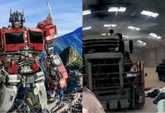 Se filtran imágenes de los vehículos de Transformers en hangar de Cusco (VIDEO)