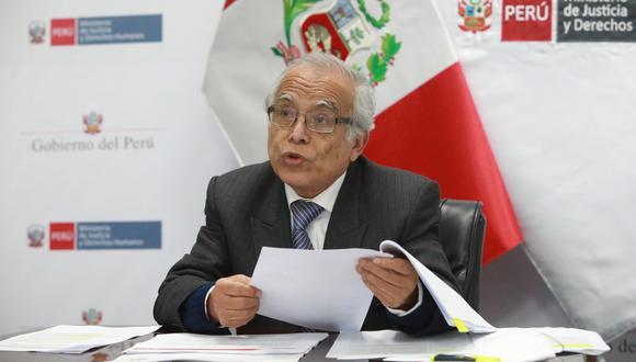 Aníbal Torres se reafirmó en su crítica a la injerencia de Cerrón en el Gobierno de Castillo. (Foto: Ministerio de Justicia)
