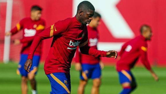 Ousmane Dembélé fue suplente y no participó del reciente partido del Barcelona en LaLiga. (Foto: FC Barcelona)