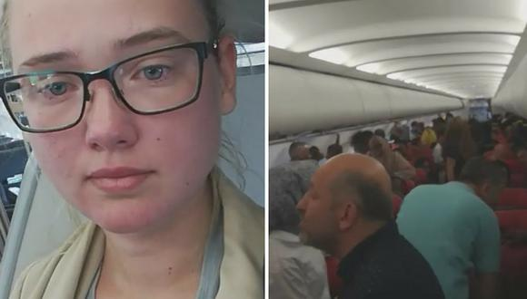Mujer frena avión para evitar que ciudadano afgano sea deportado (VÍDEO)