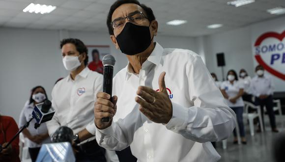 Martín Vizcarra siguió respondiendo por su participación en los ensayos de Sinopharm. Foto: Archivo de GEC