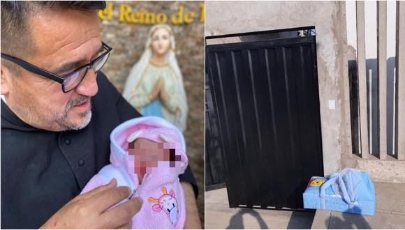 """Sacerdote encuentra a bebé abandonada en puerta de casa: """"Solo reza por la mamá y por nosotros para poder seguir ayudando"""""""