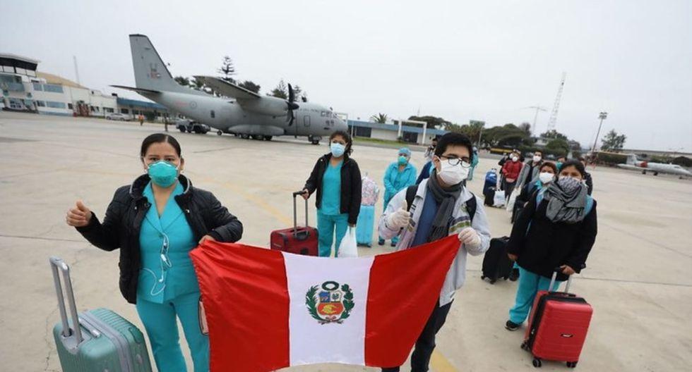 Madre de Dios: los profesionales de salud llegaron hasta el grupo aéreo N° 8, en Lima, para emprender vuelo hacia las regiones selváticas.