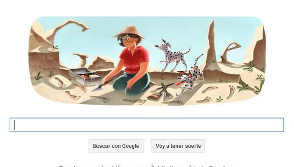 Doodle de Google rinde homenaje a la arqueóloga Mary Leakey