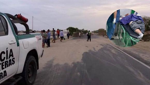 Un automóvil arrolla a dos personas en Catacaos