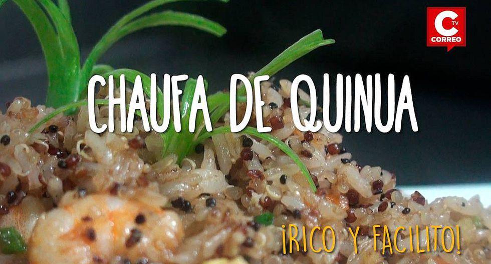 Rico y facilito: disfruta este fin de semana de un Chaufa de quinua con mariscos (VIDEO)