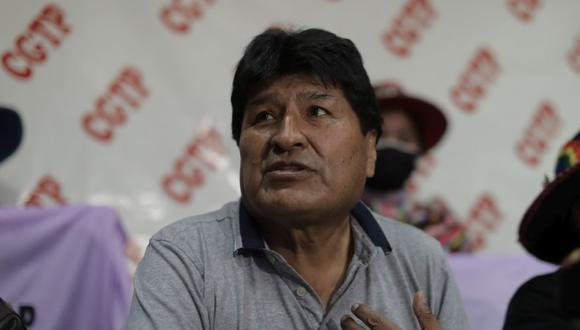 El expresidente boliviano brindará una charla para los miembros de Perú Libre, pero en la sede de Construcción Civil. (Foto: Difusión)