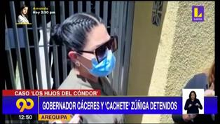 """Esposa de Cáceres Llica lo visita tras detención: """"Voy a estar con él hasta el final"""" (VIDEO)"""