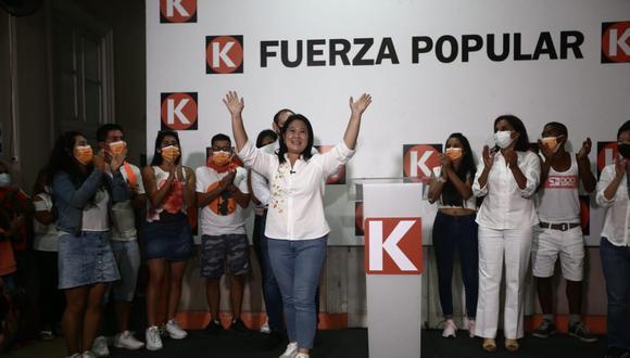 Keiko Fujimori y su equipo se reunieron para evaluar la estrategia de los siguientes días. Galarreta resalta que existen puntos en común con planes de López Aliaga y De Soto   (Foto: Jesús Saucedo/ @photo.gec)