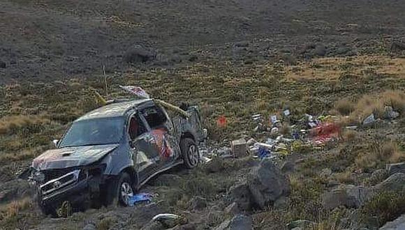 Candidata al Congreso de la República se accidenta en Arequipa