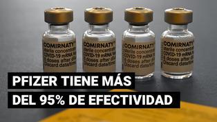 La vacuna de Pfizer protege más de un 95 % frente al coronavirus, según estudio