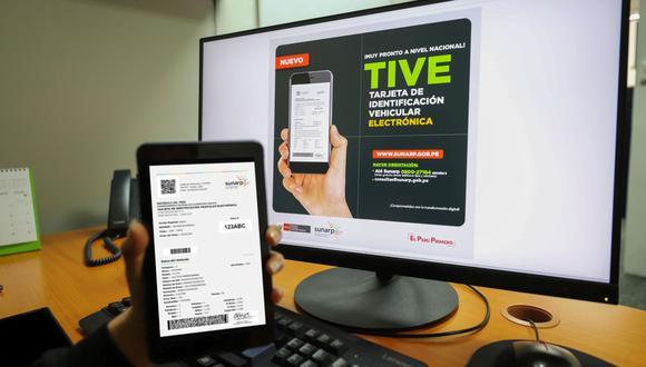 Sunarp ha simplificado los trámites para la obtención del duplicado de la Tarjeta de Identificación Vehicular. (Foto: Sunarp)