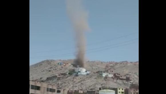 """Temor en Lima por pequeños """"tornados"""" y vientos huracanados"""