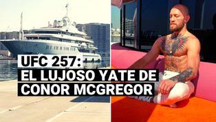 El increíble yate en el que llegó Conor McGregor a Abu Dhabi para el UFC 257