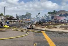Estados Unidos: avioneta se estrella en un vecindario de California y deja dos fallecidos