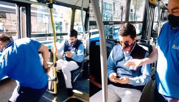 Un usuario en TikTok aconseja donde sentarte en el transporte público para no sufrir un robo.