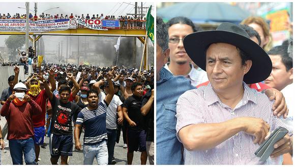 Puente Piedra: Gregorio Santos y la izquierda se suman a protesta por peaje