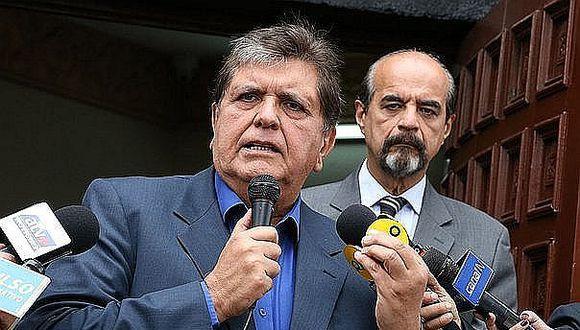 """Alan García afirma que denunciará penalmente a autores de """"difamación"""""""