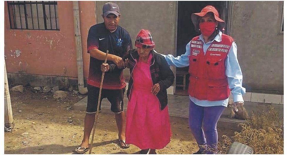 Midis ayudó a una anciana de 90 años a cobrar Pensión 65