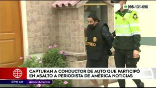Delincuente que participó en robó a periodista de América TV  es detenido por la policía (VIDEO)