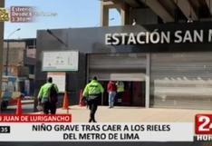 San Juan de Lurigancho: niño de 4 años grave tras caer a rieles del tren en la estación San Martín (VIDEO)