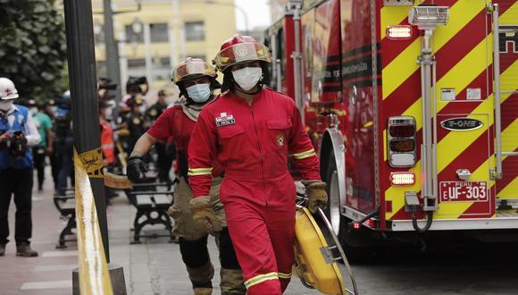 Un total de 198 bomberos voluntarios en Huánuco aún no reciben la dosis contra el COVID-19, por otra parte, en Pasco, 54 hombres de rojo se encuentran a la espera de ser inoculados (Foto: Referencial/Leandro Britto/GEC)